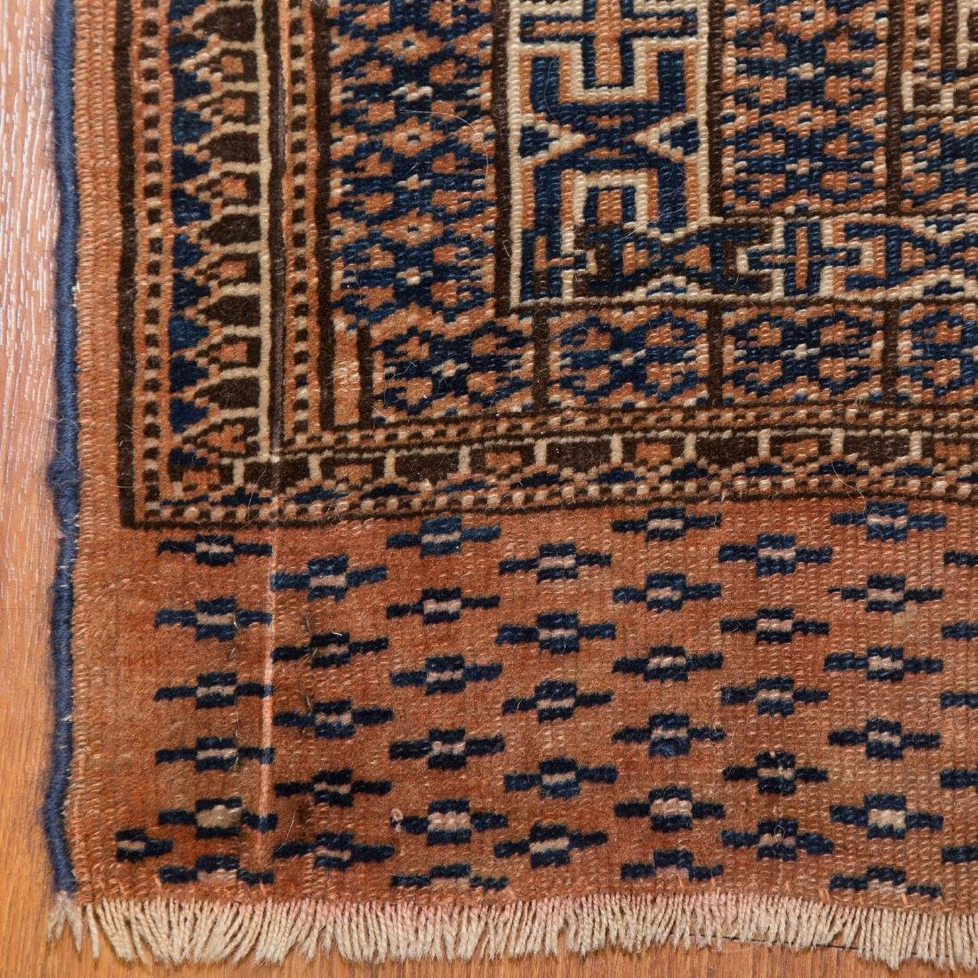 Three antique scatter rugs - 4
