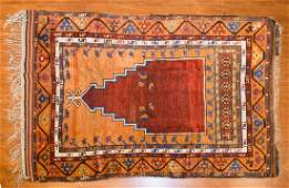 Antique Turkish prayer rug, approx. 3.6 x 5.7