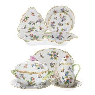 Herend porcelain Queen Victoria dinner service