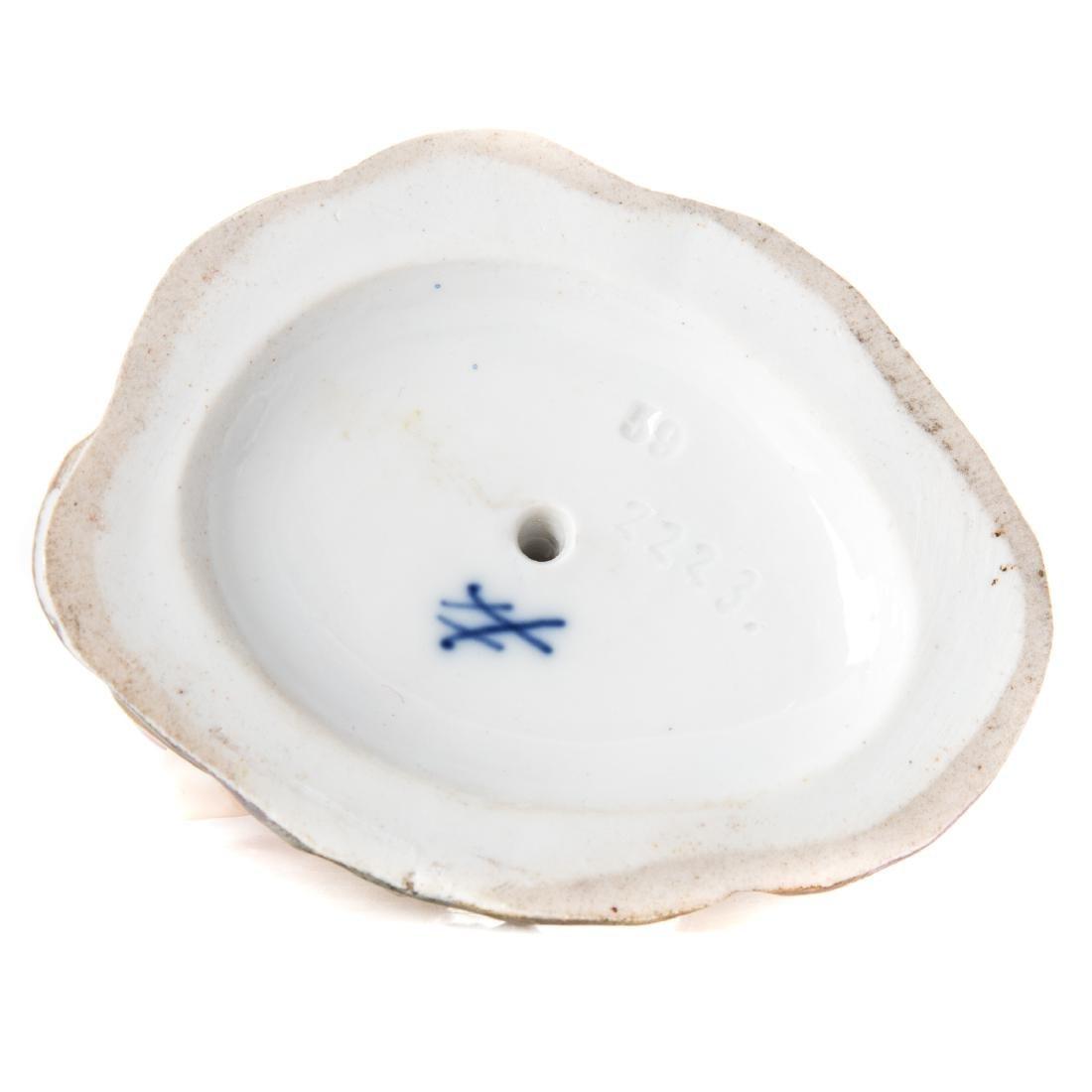 Meissen porcelain figural group and match safe - 5