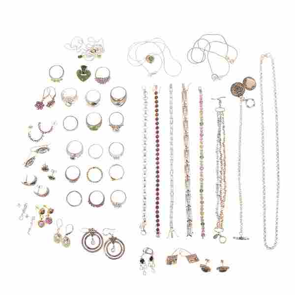 Collection of Ladies Gemstone Jewelry in Sterling