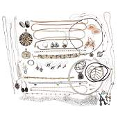 A Collection of Ladies Sterling Silver Jewelry