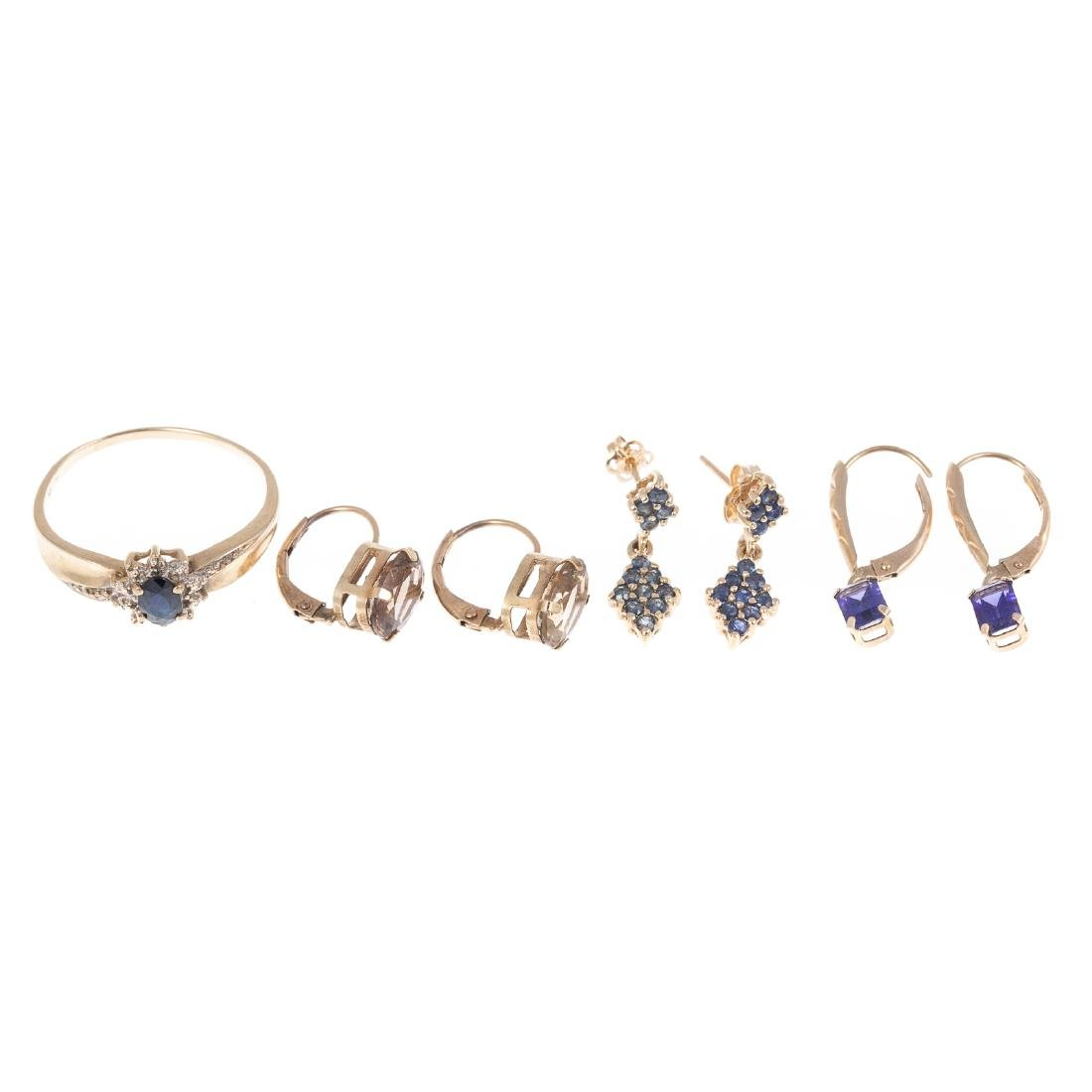 A Collection of Gemstone Earrings & Ring