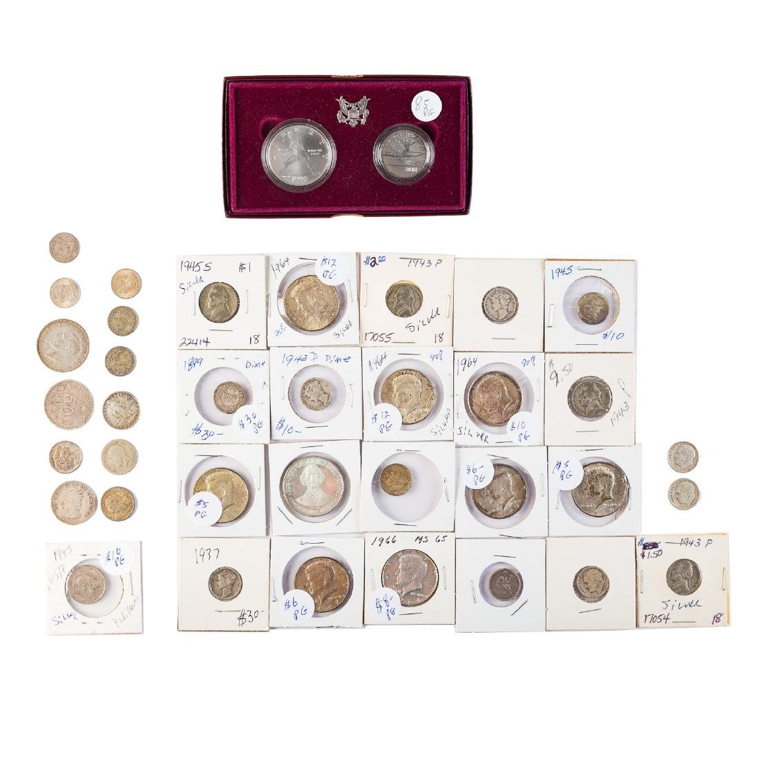 Silver coins and collectibles