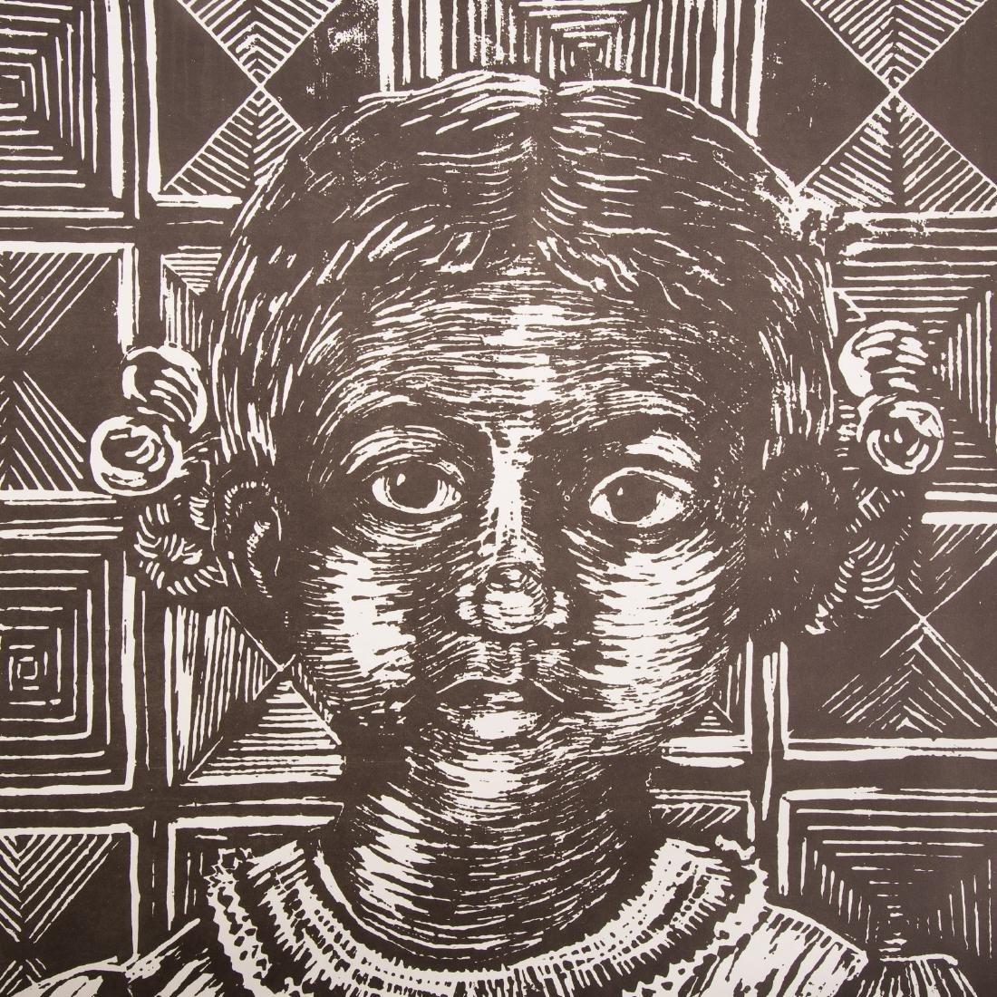 """Margaret Burroughs. """"Little Girl,"""" linocut - 2"""