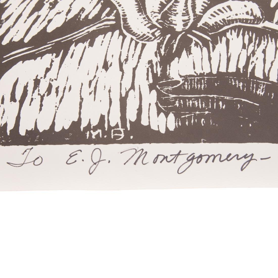 """Margaret Burroughs. """"Little Girl,"""" linocut - 4"""