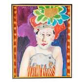 Joan Erbe. Elegant Lady, oil on canvas