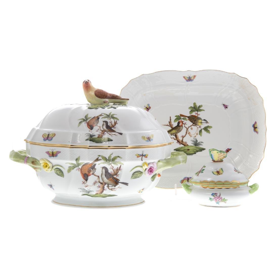 Herend Rothschild Bird soup tureen and platter
