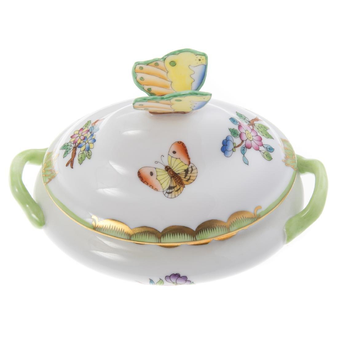 Herend Rothschild Bird soup tureen and platter - 2