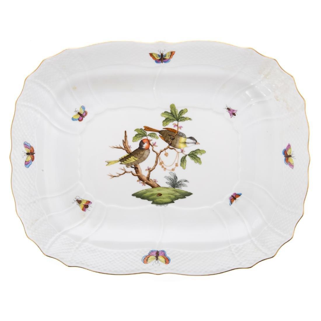 Herend Rothschild Bird soup tureen and platter - 7