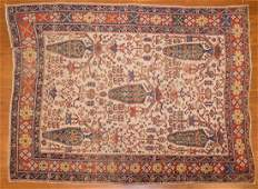 Antique Afshar rug approx 4 x 51