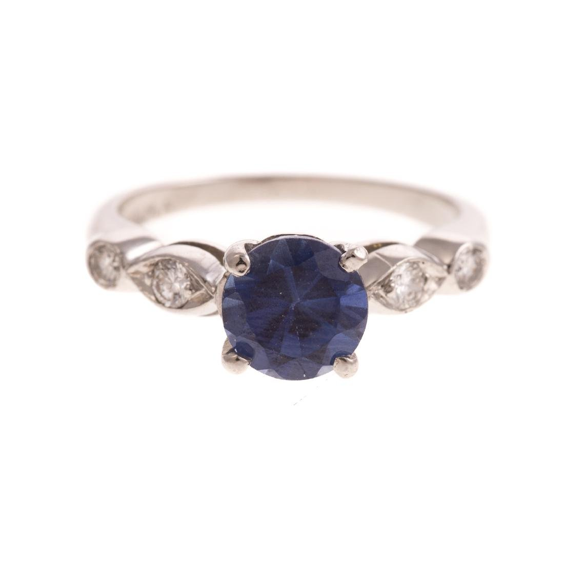 A Vintage Sapphire & Diamond Ring in Platinum