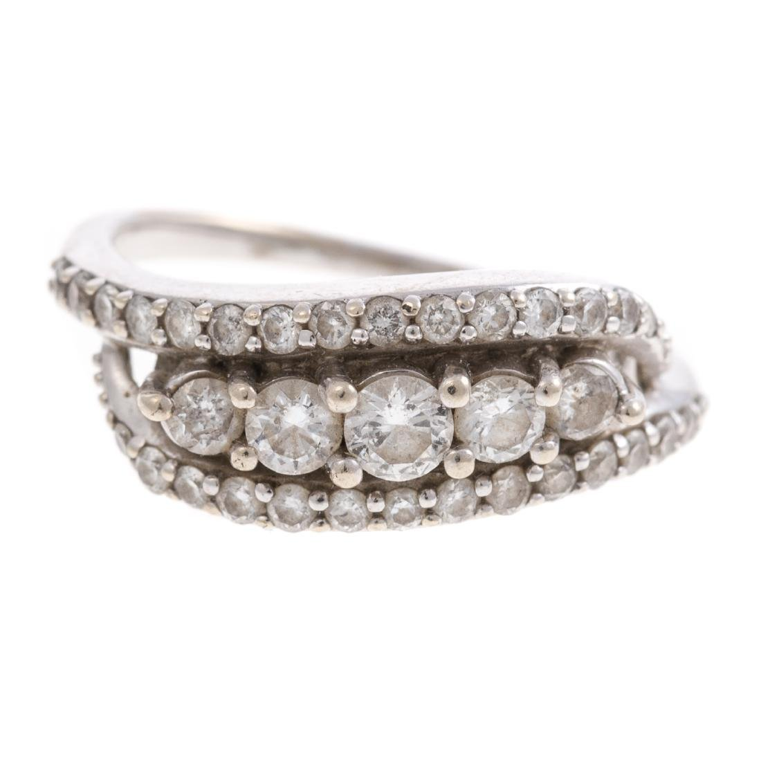 A Ladies Classic Diamond Ring in 14K Gold