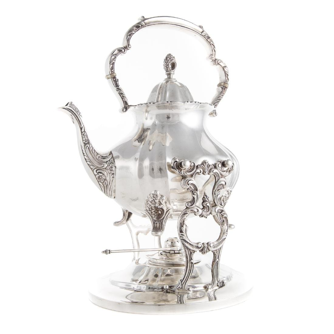 "Poole ""Lancaster Rose"" Sterling Coffee/Tea Service - 4"