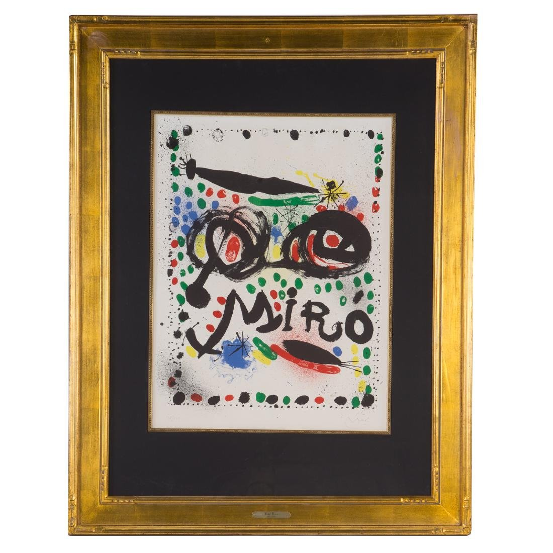 "Joan Miro. ""Joan Miro Graphics,"" color lithograph"