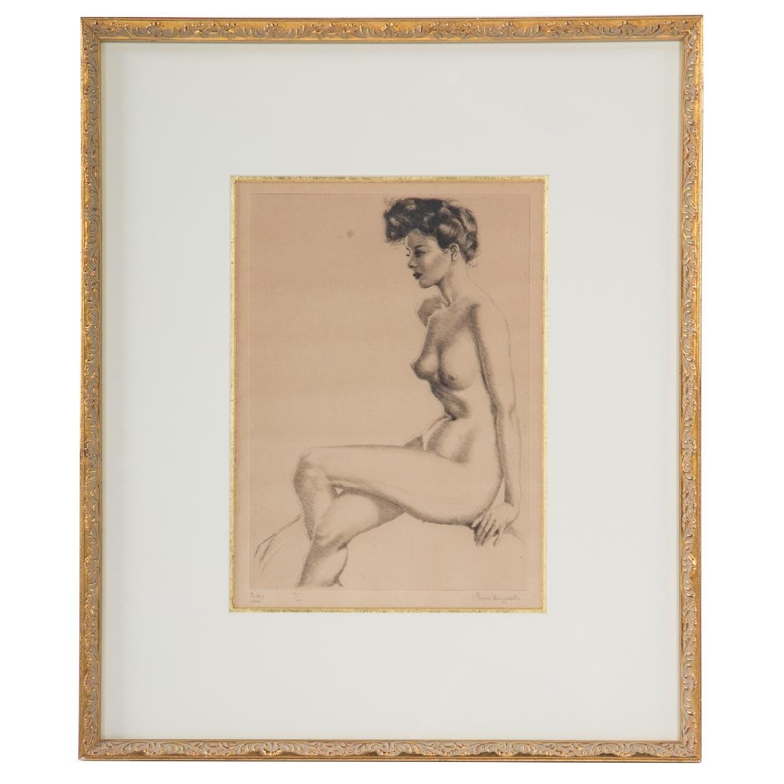 """Morris Henry Hobbes. """"Becky,"""" etching"""