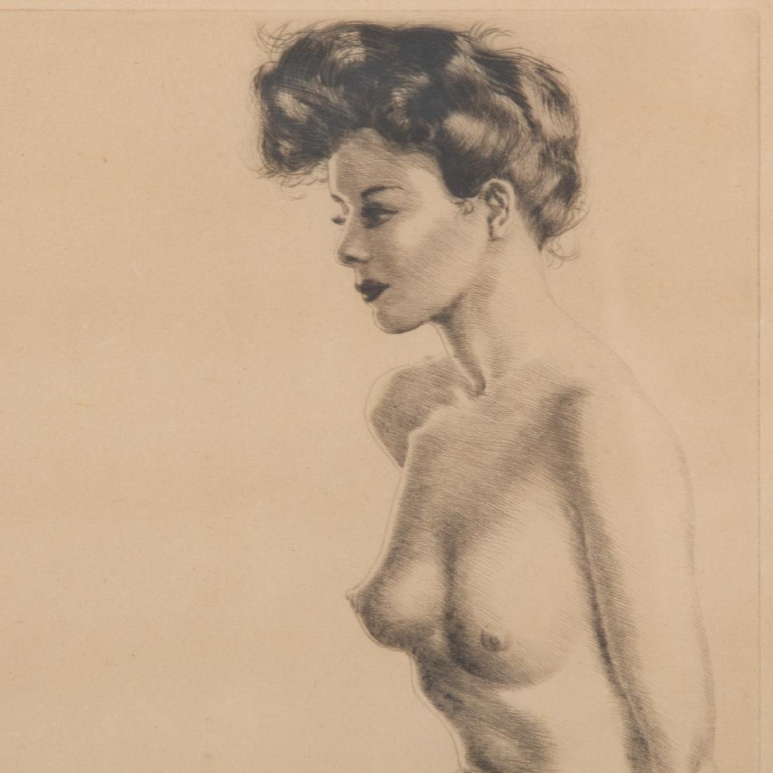 """Morris Henry Hobbes. """"Becky,"""" etching - 4"""