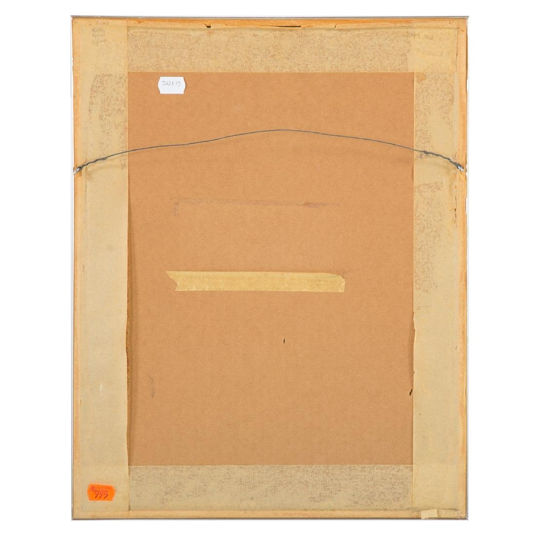 "Leonard Baskin, ""Four Artists,"" wood engraving - 4"