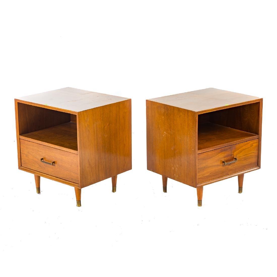 Pair of Furnette Walnut Nightstands - 2