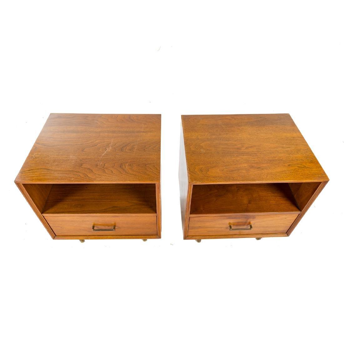 Pair of Furnette Walnut Nightstands - 4