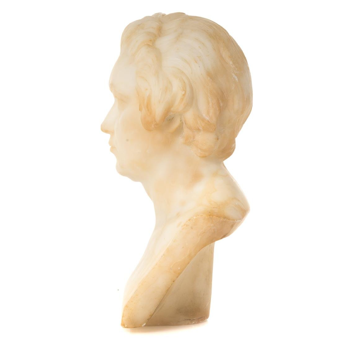 Continental Carved Marble Bust of Beethoven - 3