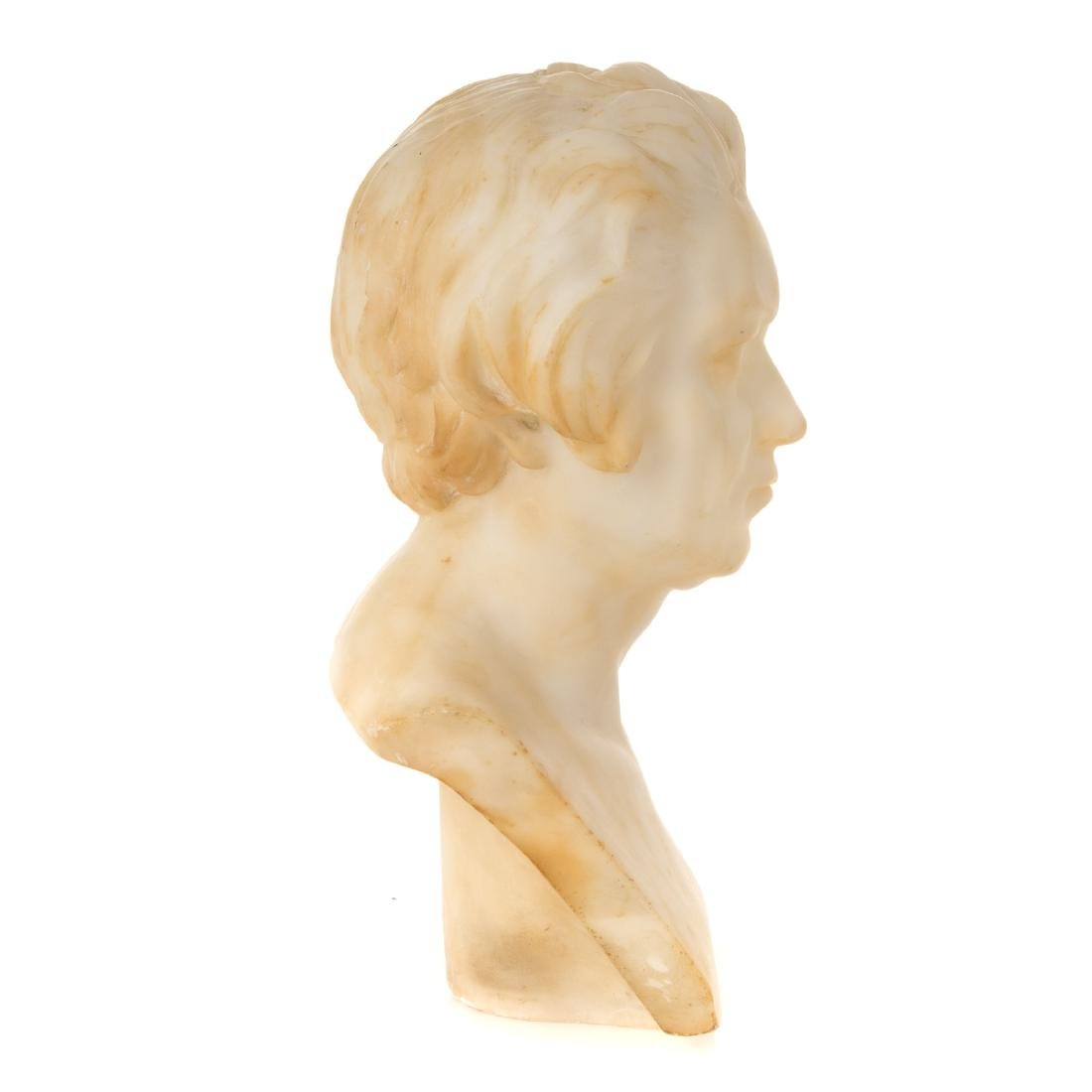 Continental Carved Marble Bust of Beethoven - 5
