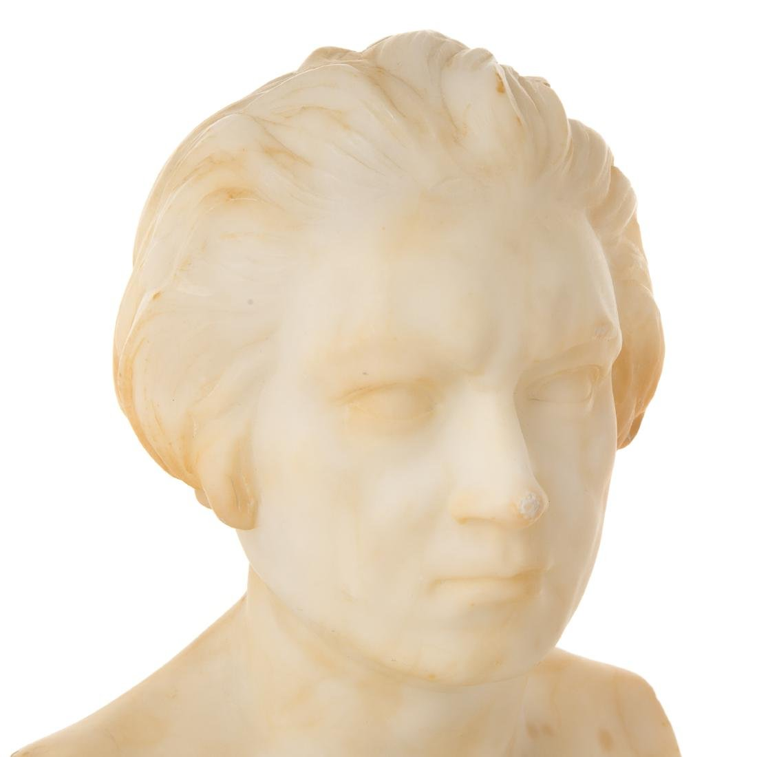 Continental Carved Marble Bust of Beethoven - 6