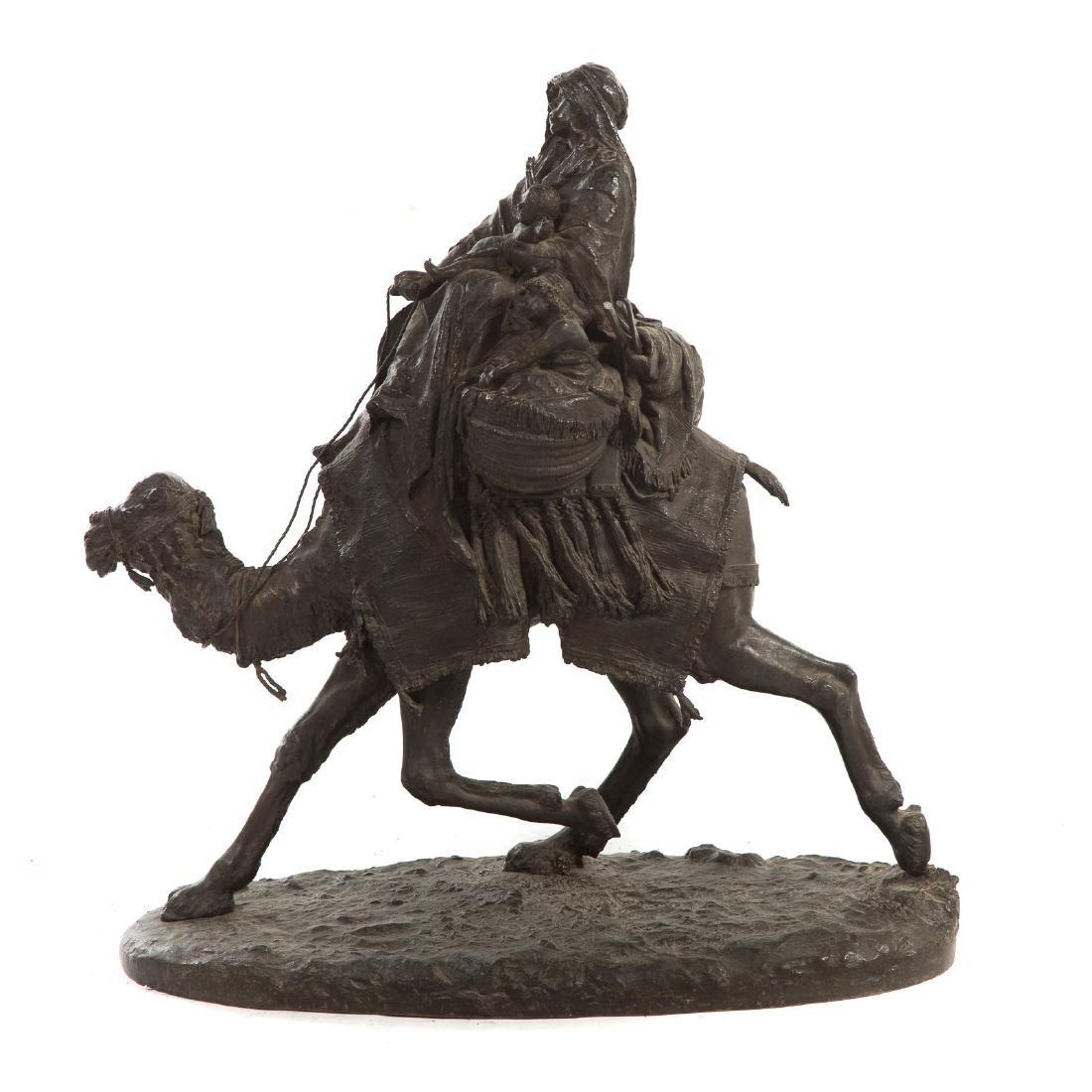 Ernesto Biondi. Woman and Children, Bronze