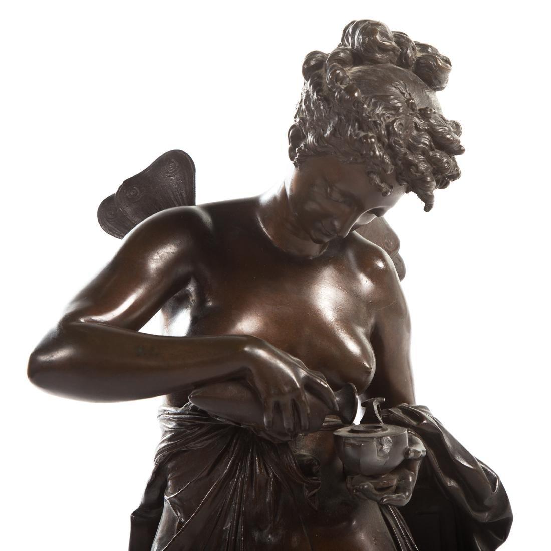 """Carrier-Belleuse. """"Psyche,"""" Bronze - 4"""