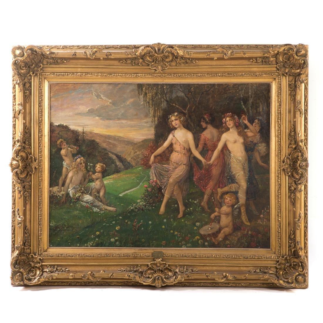 """Carl Rohling. """"Primavera,"""" Oil on Canvas"""