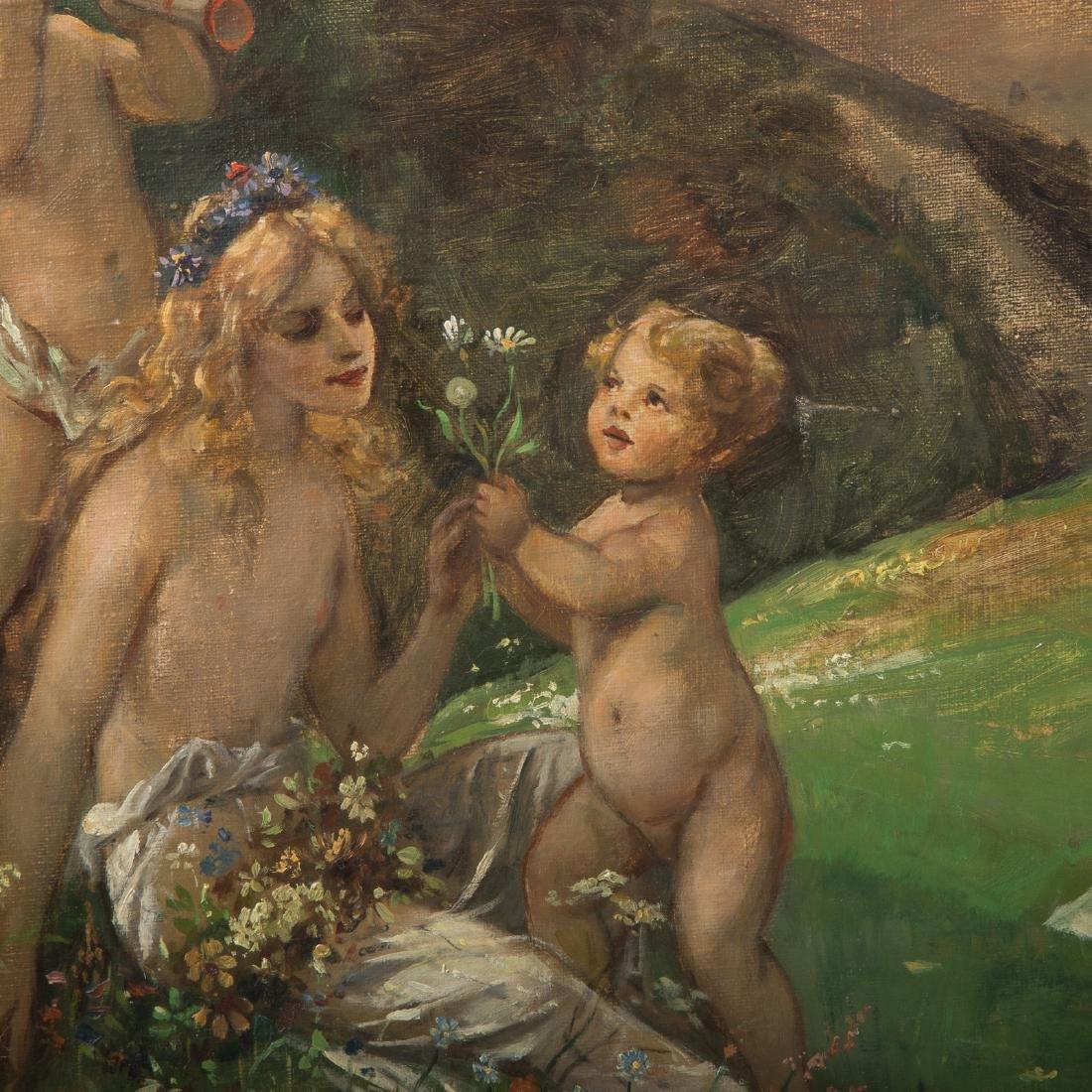 """Carl Rohling. """"Primavera,"""" Oil on Canvas - 3"""