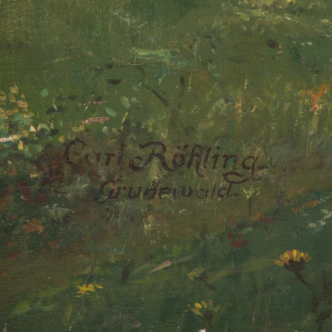 """Carl Rohling. """"Primavera,"""" Oil on Canvas - 4"""
