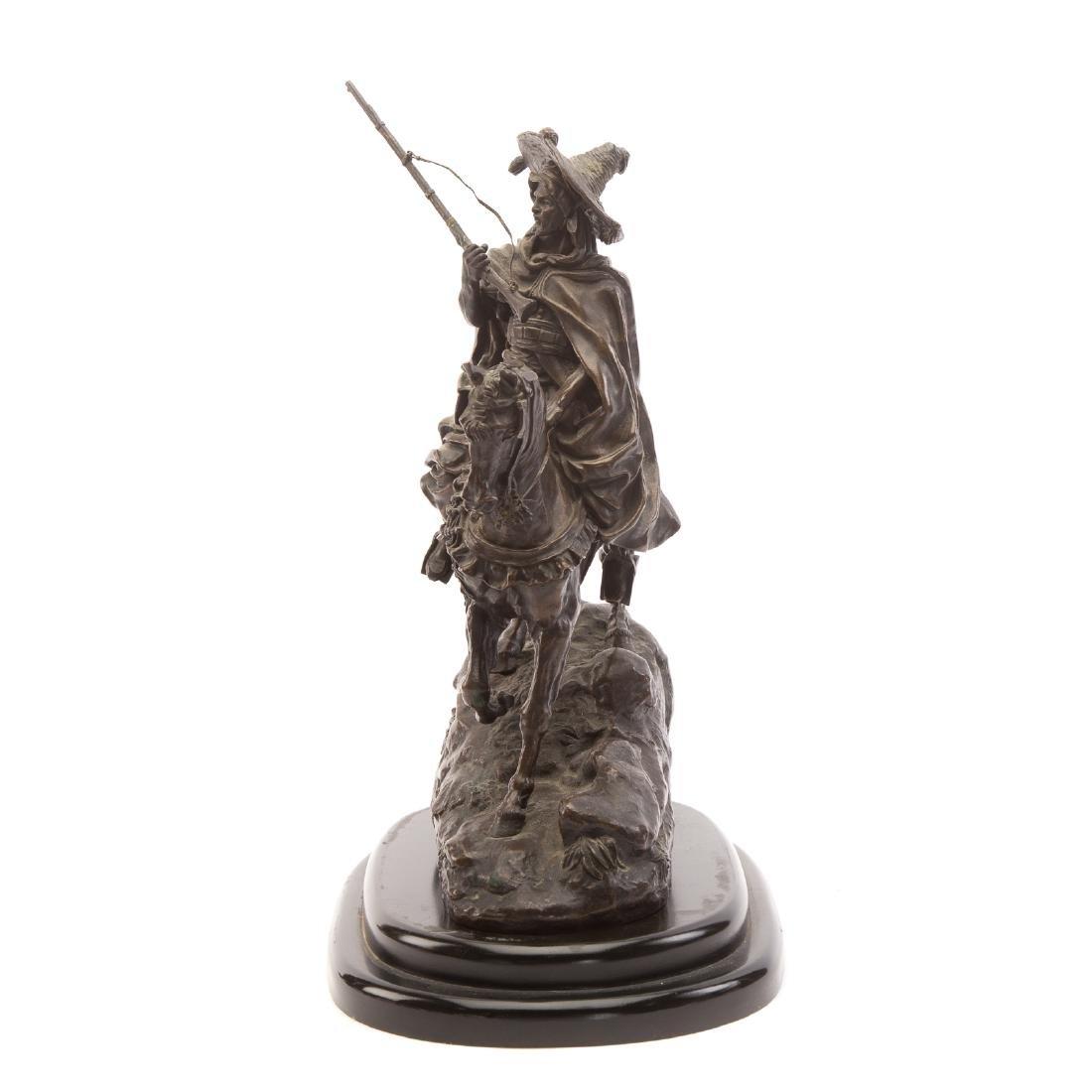 Lanceray. Arab Warrior on Horseback, Bronze - 2