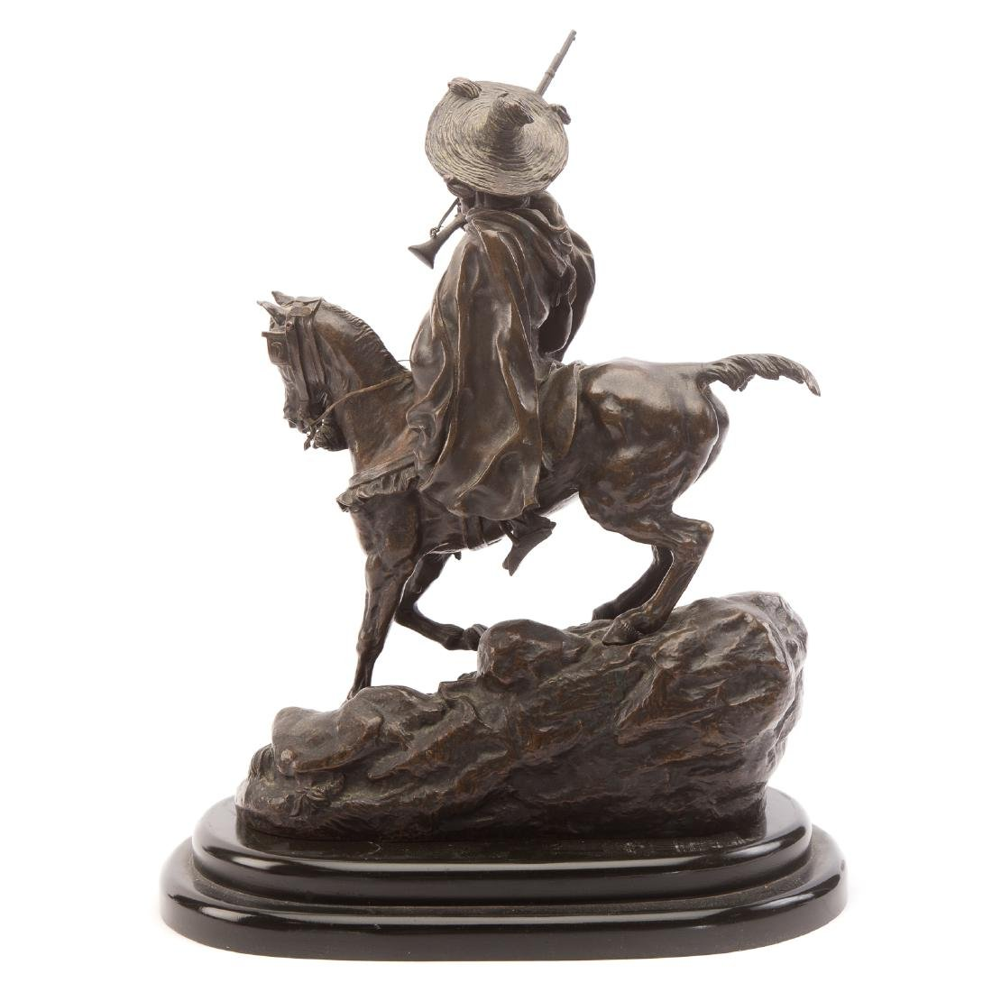 Lanceray. Arab Warrior on Horseback, Bronze - 3