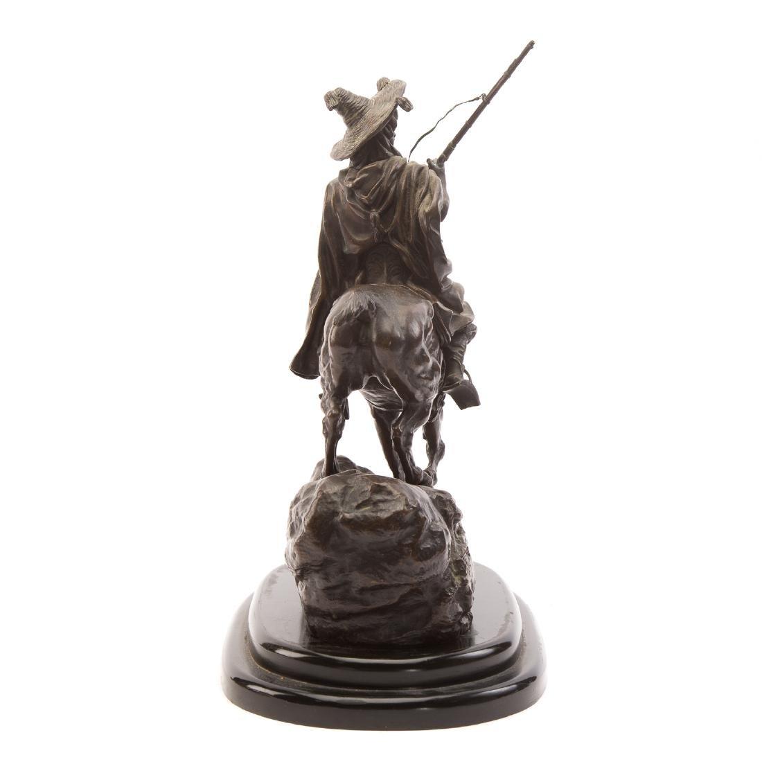Lanceray. Arab Warrior on Horseback, Bronze - 4