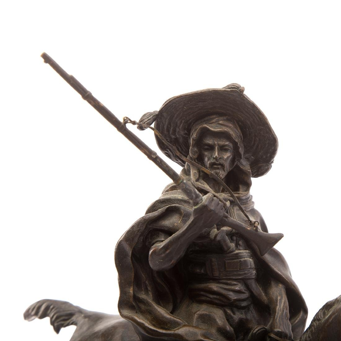 Lanceray. Arab Warrior on Horseback, Bronze - 5