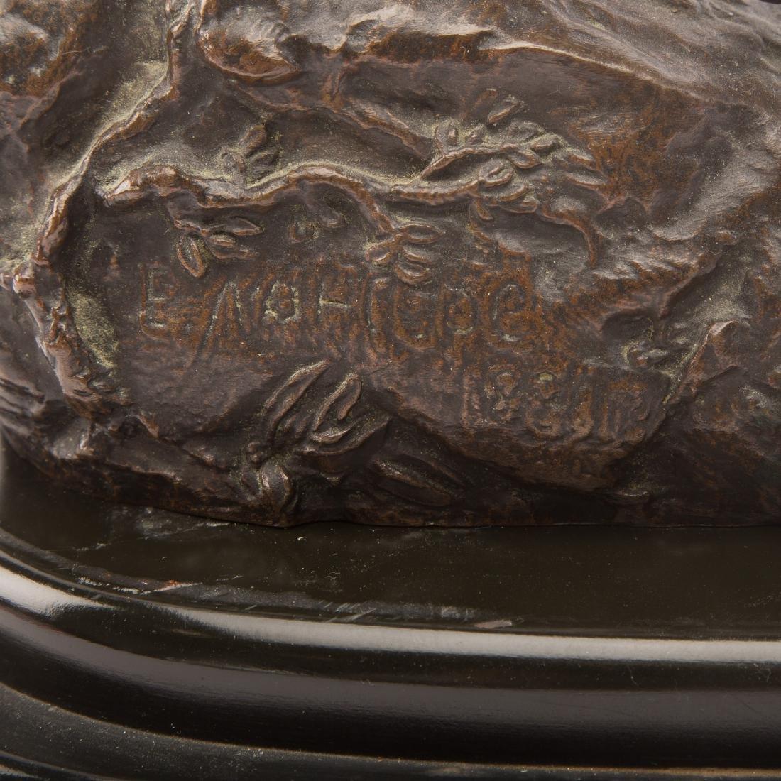 Lanceray. Arab Warrior on Horseback, Bronze - 7