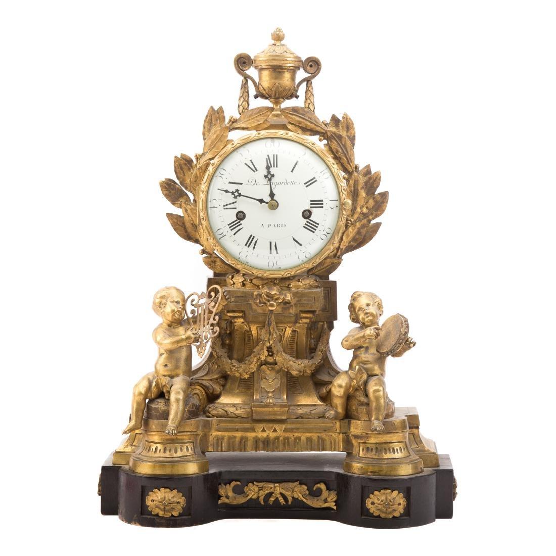 French Gilt Bronze Mantle Clock