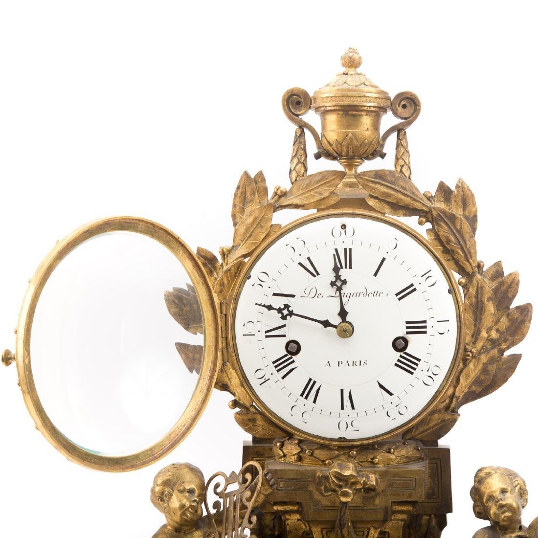 French Gilt Bronze Mantle Clock - 2