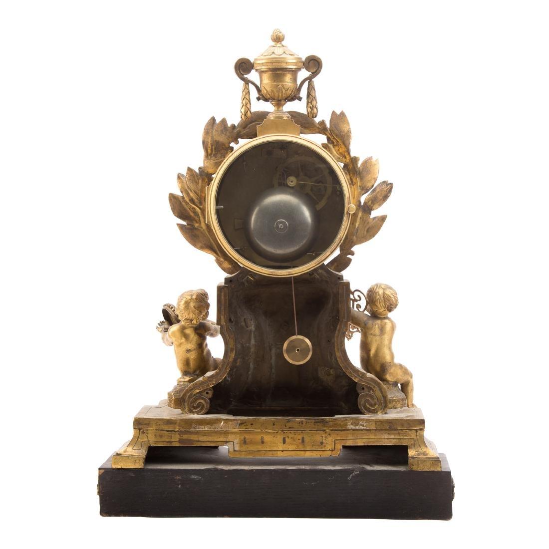 French Gilt Bronze Mantle Clock - 6