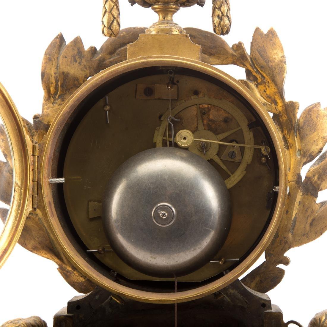 French Gilt Bronze Mantle Clock - 7