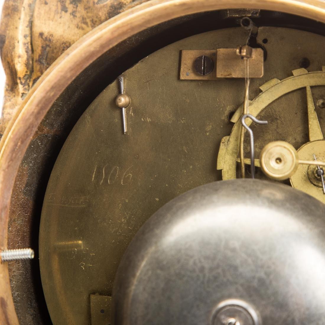 French Gilt Bronze Mantle Clock - 8