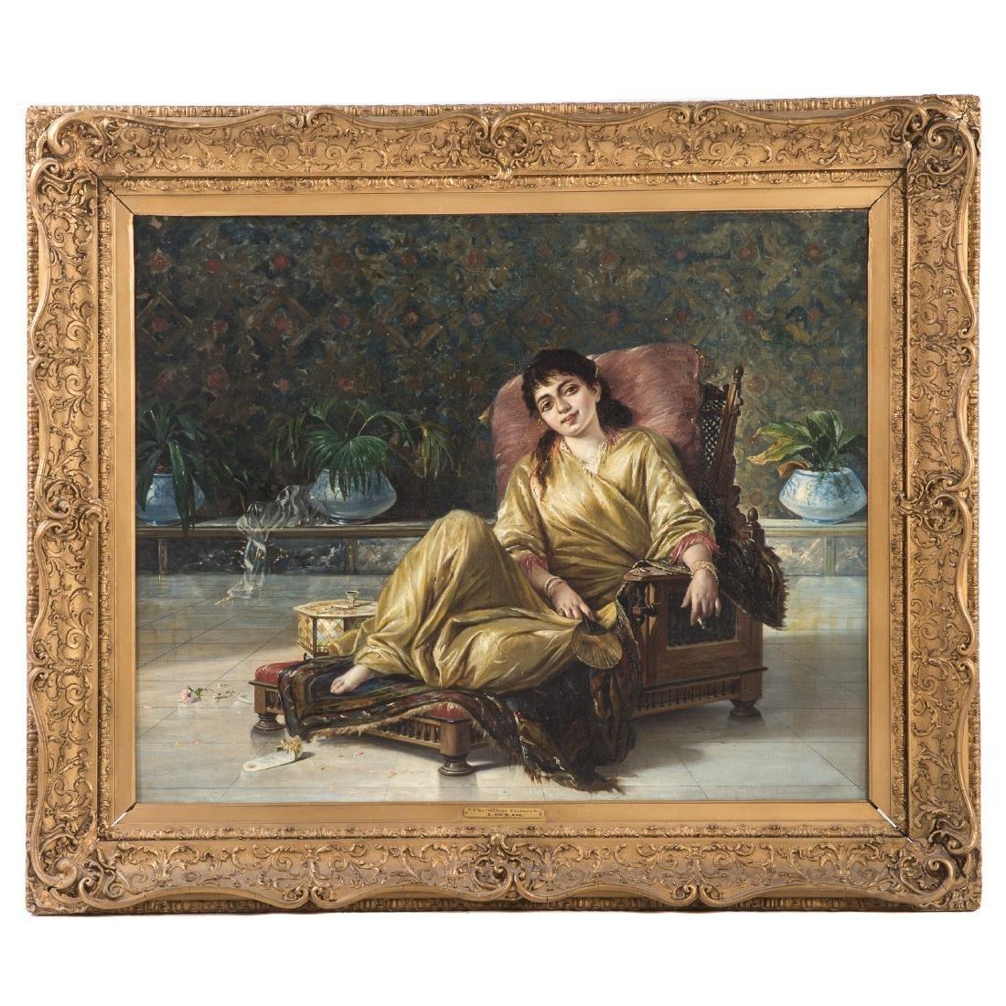 """Manner of von Blaas. """"The Sultan's Favourite,"""" Oil"""