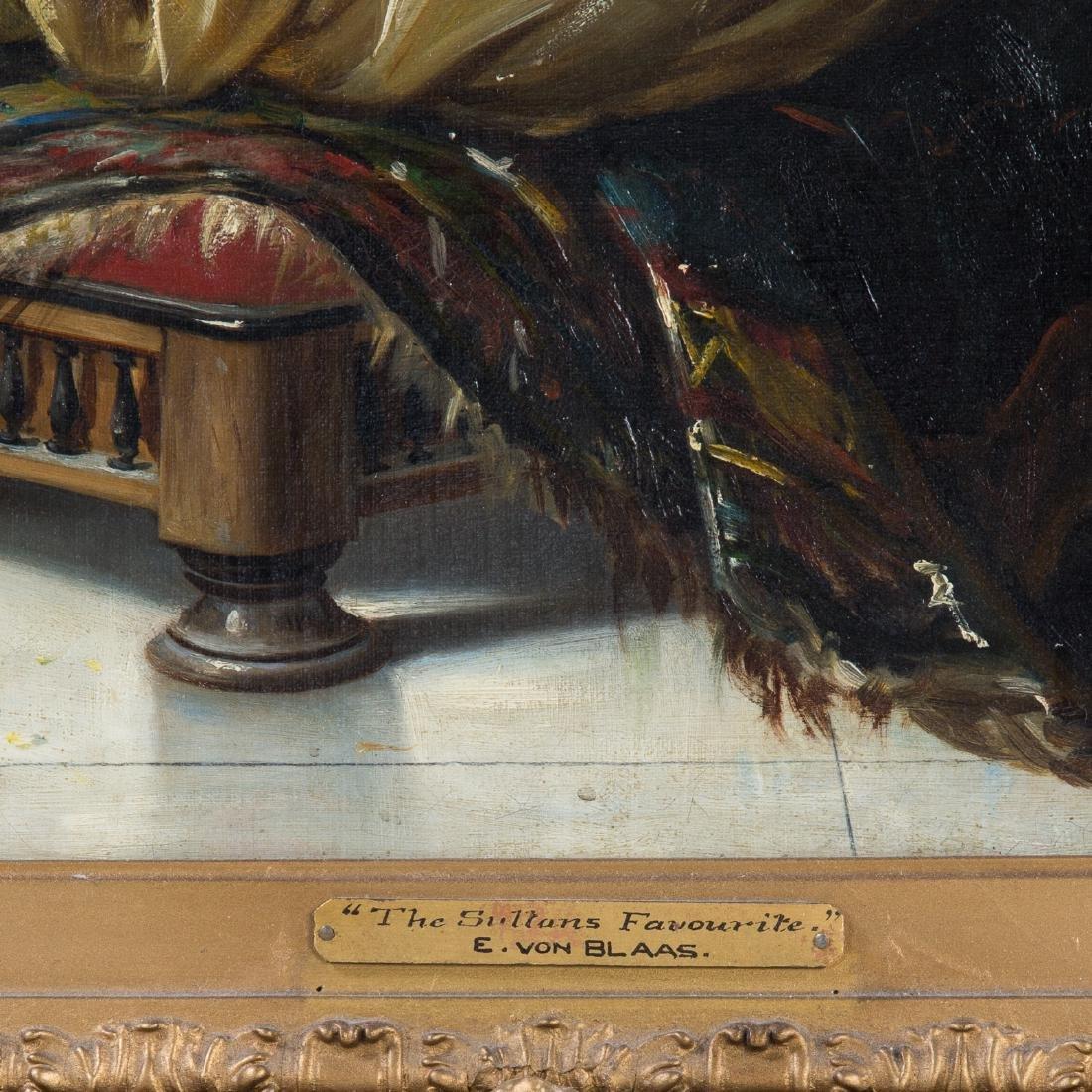"""Manner of von Blaas. """"The Sultan's Favourite,"""" Oil - 4"""