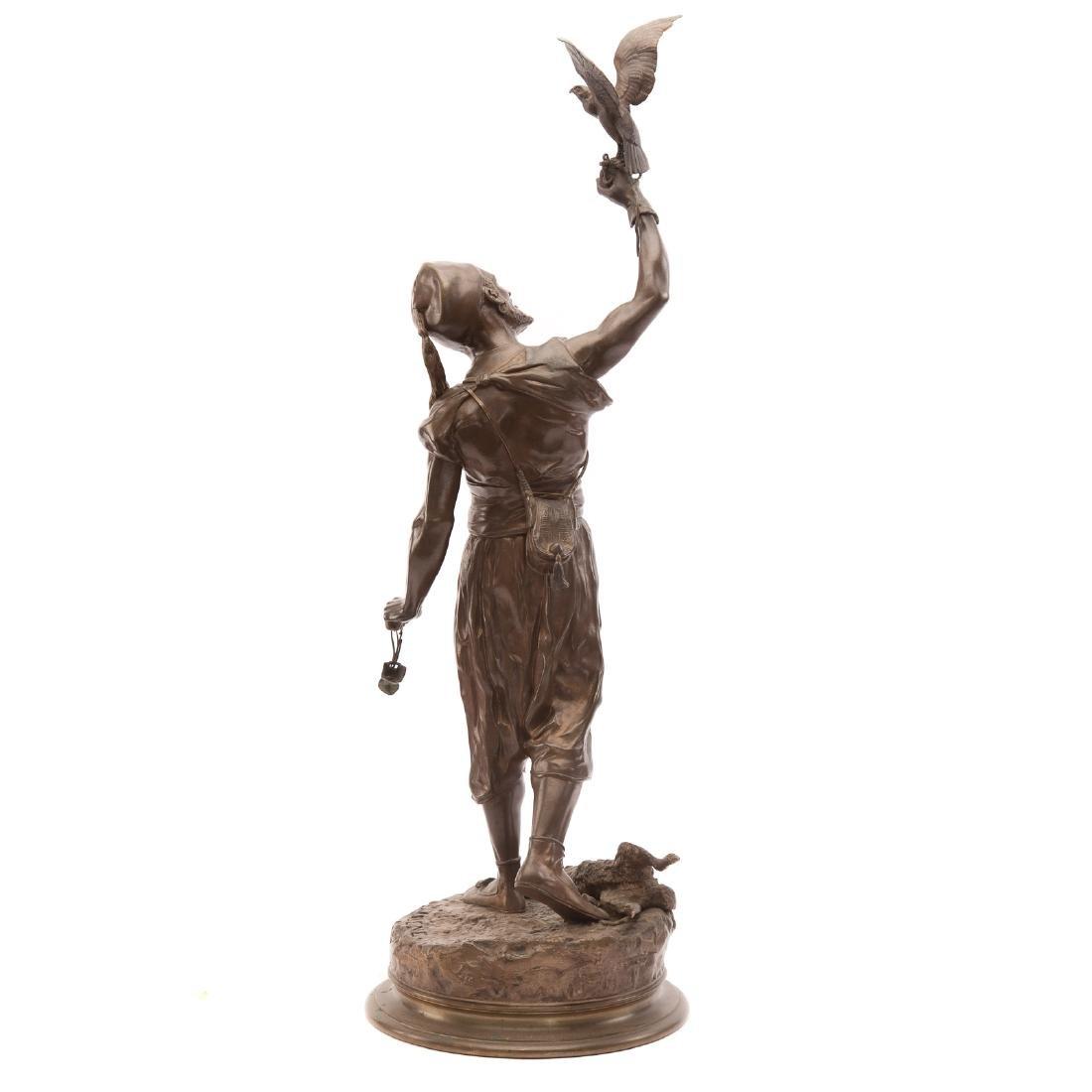 "Pierre-Jules Mene. ""The Arab Falconer,"" Bronze - 3"