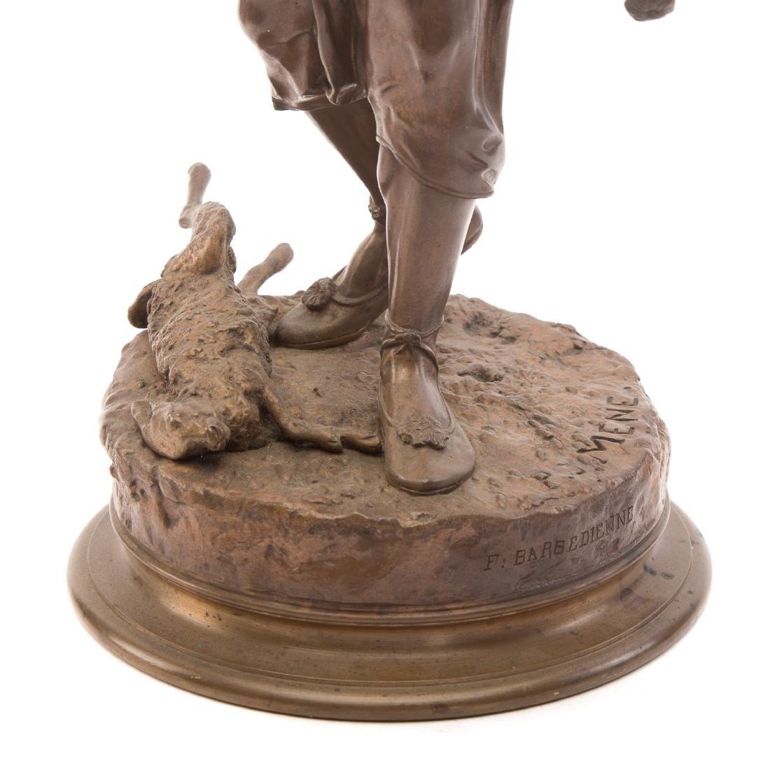 "Pierre-Jules Mene. ""The Arab Falconer,"" Bronze - 4"