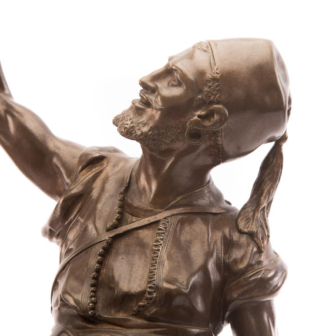 "Pierre-Jules Mene. ""The Arab Falconer,"" Bronze - 5"