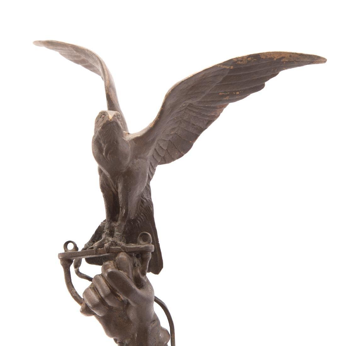 "Pierre-Jules Mene. ""The Arab Falconer,"" Bronze - 6"