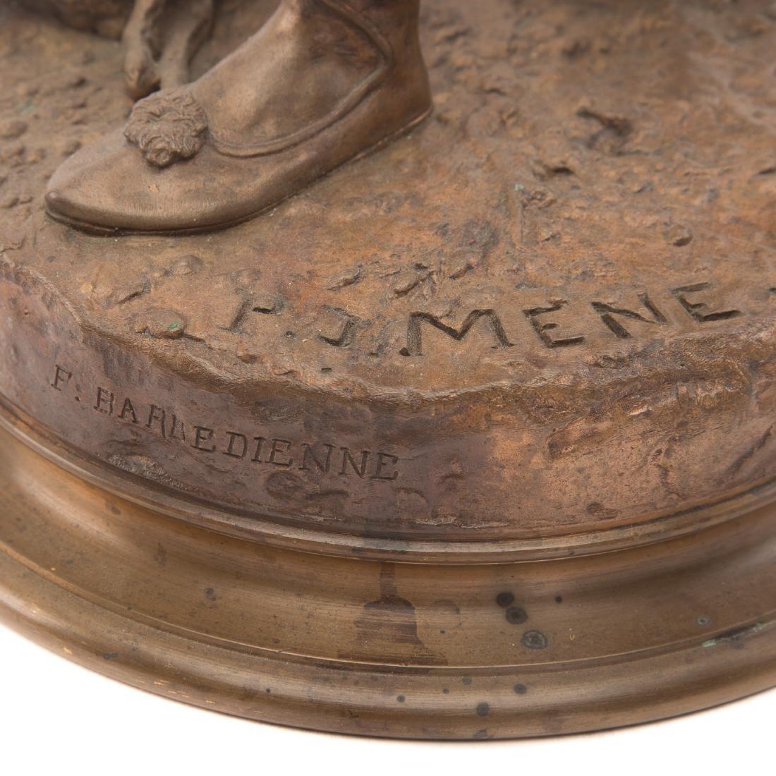 "Pierre-Jules Mene. ""The Arab Falconer,"" Bronze - 7"