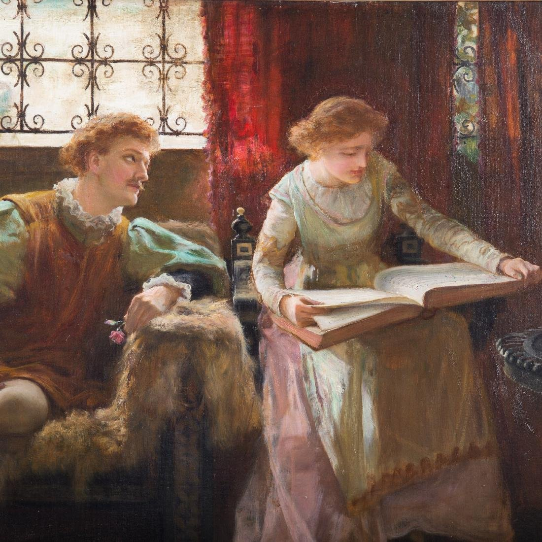 Francis Sydney Muschamp. Love's Young Dream, Oil - 3